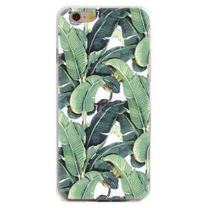 iPhone 6/6s tropical leaf case green soft
